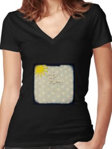 You are my sunshine Women's Fitted V-Neck T-Shirt