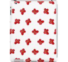 Cute Little Red Watercolor Flower Pattern iPad Case/Skin