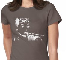 """I never thought I'd land in pictures with a face like mine."" - A. Hepburn Womens Fitted T-Shirt"
