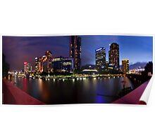 Melbourne City Southbank, Victoria, Australia - Sunset/Night  Poster