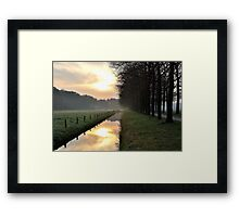 Going out on another early morning Framed Print