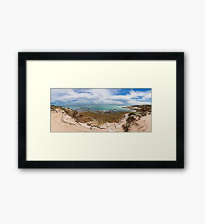 Rye Back Beach Coast, Victoria, Australia - Day Time Framed Print