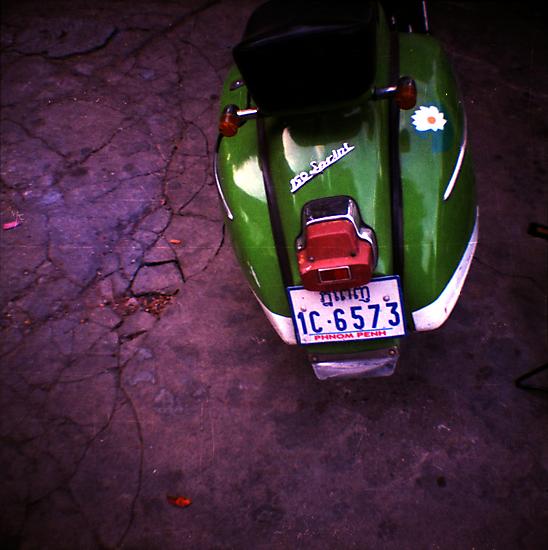 vespa, phnom penh, cambodia by tiro