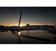Millennium bridge swansea  Photographic Print