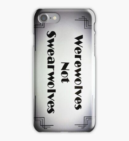 Werewolves Not Swearwolves - Faded iPhone Case/Skin