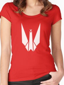 Paper Origami Crane Women's Fitted Scoop T-Shirt