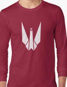 Paper Origami Crane Long Sleeve T-Shirt