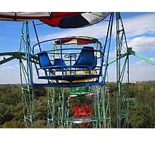 The view from the cabin ferris wheel Photographic Print