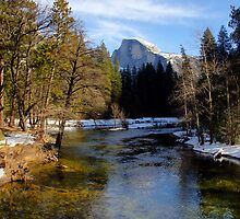 Merced River & Half Dome by Harry Oldmeadow