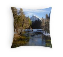 Merced River & Half Dome Throw Pillow