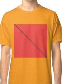 Modern Minimalistic Black Stripe on Coral Red Classic T-Shirt