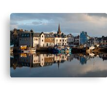 Stornoway Harbour Isle of Lewis Outer Hebrides Scotland UK Canvas Print
