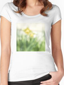 Soft daffodils Women's Fitted Scoop T-Shirt