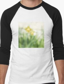 Soft daffodils Men's Baseball ¾ T-Shirt