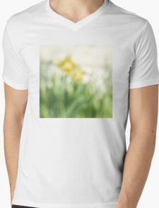 Soft daffodils Mens V-Neck T-Shirt