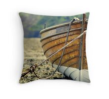 wooden fishing boat.4 Throw Pillow