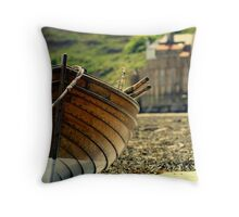 wooden fishing boat.5 Throw Pillow