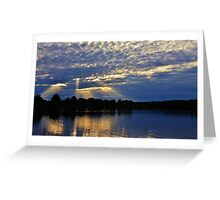 Rays Through the Clouds Greeting Card