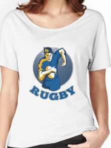 rugby player running with ball Women's Relaxed Fit T-Shirt