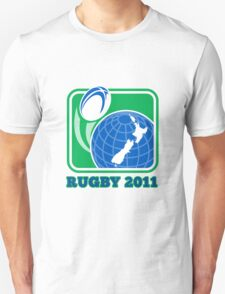 rugby new zealand map ball 2011 Unisex T-Shirt
