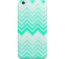 Trendy Aqua Teal Gradient Chevron Zigzag Pattern iPhone Case/Skin