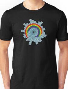 Rainbow Web Wheel Unisex T-Shirt