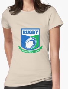 rugby ball and shield Womens Fitted T-Shirt