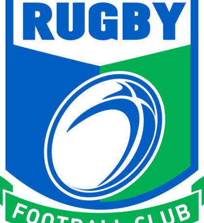 rugby ball and shield Sticker