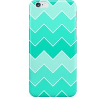 Trendy Teal Gradient Thick Chevron Zigzag Pattern iPhone Case/Skin