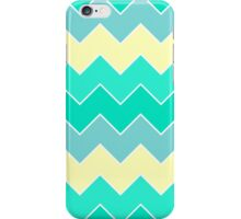 Trendy Yellow Teal Gradient Chevron Zigzag Pattern iPhone Case/Skin