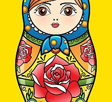 russian nesting doll by satoriartwork