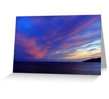 Colorful Skies Over Ballinskelligs Bay Greeting Card