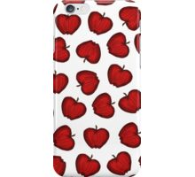 Cute Hand Drawn Red Fruity Apples Pattern iPhone Case/Skin
