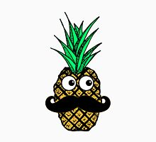 Funny Tropical Pineapple with Googly Eyes Mustache Unisex T-Shirt