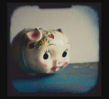 Pretty piggy - vintage china piggy bank photograph One Piece - Long Sleeve