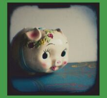 Pretty piggy - vintage china piggy bank photograph Baby Tee