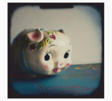 Pretty piggy - vintage china piggy bank photograph One Piece - Long Sleeve