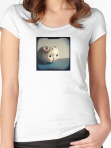 Pretty piggy - vintage china piggy bank photograph Women's Fitted Scoop T-Shirt