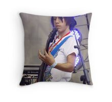 Bass Blue Halo Throw Pillow