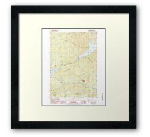 USGS Topo Map Oregon Green Peter 280097 1984 24000 Framed Print