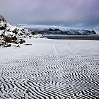 Snow on Abersoch harbour beach by Turtle  Photography
