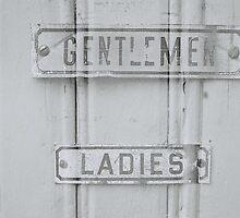 Gentleman & ladies bathroom signs by goodfella2459