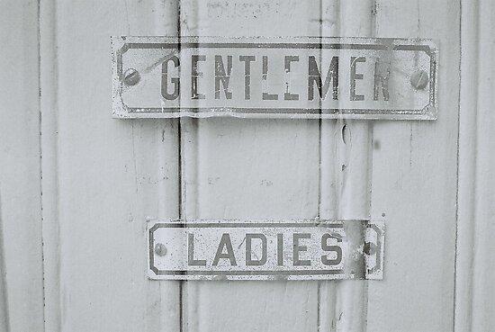 Gentleman Ladies Bathroom Signs By Goodfella2459 Redbubble