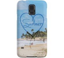 "Painted ""Summer"" Heart Typography Beach Scene  Samsung Galaxy Case/Skin"