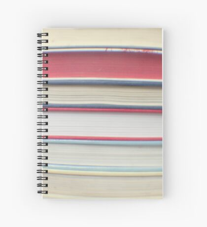 Red stripe books photograph Spiral Notebook