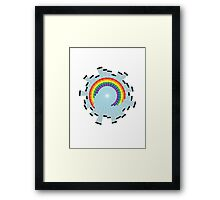Rainbow Web Wheel Framed Print