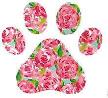 Lilly Pulitzer Paw Print by mermaidnatalie