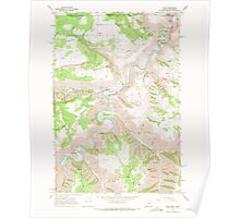 USGS Topo Map Oregon Troy 281879 1967 24000 Poster