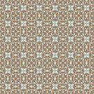 Brown and Blue Geometric Pattern by Cherie Balowski