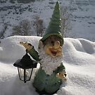 Gnome in the Snow by Dulcina
